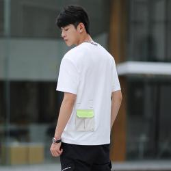 VTO 新款时尚气质落肩版潮流男款短袖T恤 WZ3282