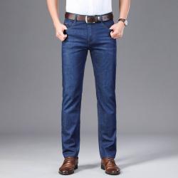 8853-4 商务舒适牛仔裤细节做工直筒版型