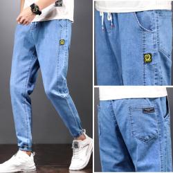 802 牛仔裤 绑带设计微弹超舒适面料束脚时尚
