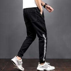 807 牛仔裤 潮流活力条纹设计显瘦新款