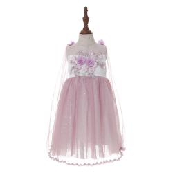 伊卡通 夏季新款时尚气质可爱女童中式无袖网纱裙蛋糕裙仙女公主裙 021051