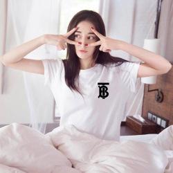 6593#baby明星同款圆领立体字母白色短袖t恤女原宿风20新款女装