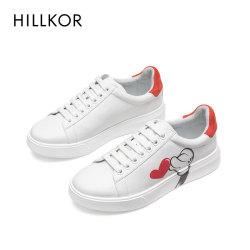 網紅小白鞋女2020春季新款真皮洋氣休閑百搭運動板鞋子潮3D圖案 HK676