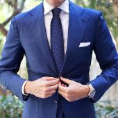 AujacSon奥杰逊 韩版领带涤丝高品质提花时尚箭头雅致小点图案