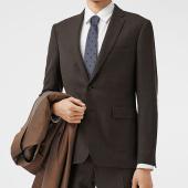 AujacSon奥杰逊 日韩时尚学院风酷版男士领带衬衫桑蚕丝学生