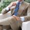 AujacSon奥杰逊 高端意大利经典条纹领带衬衫男士商务条纹职业桑蚕丝