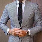 AujacSon奥杰逊 高端时尚休闲日韩风男士领带