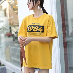 短袖t恤女2020夏新款卡通印花宽松体恤ins内搭上衣 A708