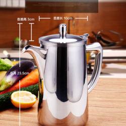 仁品冷水壺 304不銹鋼加厚水壺家用茶水壺果汁壺涼水壺2LRP-CH07