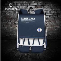 厂家直销帆布双肩包男2020新款学院风中学生书包户外旅行电脑背包1988