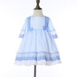 伊卡通 夏季新款时尚气质可爱女童中式网纱裙蛋糕裙公主裙
