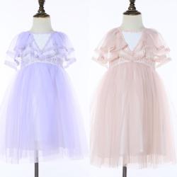 伊卡通 夏季新款时尚气质可爱女童中式网纱裙蛋糕裙公主裙 021133#