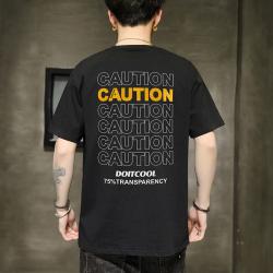 男士短袖t恤圆领字母图案潮牌潮流纯棉2020新款夏季宽松T恤 C080