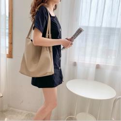 单肩包女新款潮流女包大容量包包PU时尚软包袋女 M2011