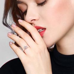 正品莫桑钻女戒LCR0035-皇冠戒指-ok女925银女戒指