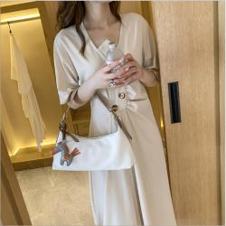 露雅思 女包新款2020法棍包腋下包韓版時尚女士單肩包配小馬 8332