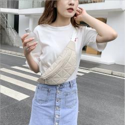 女包2020新款斜挎包韓版簡約菱格胸包時尚網紅女士腰包女 9006
