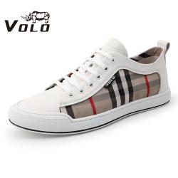 VOLO犀牛板鞋男2020夏季新款运动休闲鞋韩版百搭正品真皮透气鞋男286203001D