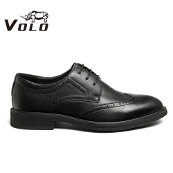 VOLO犀牛男鞋春夏商务正装休闲皮鞋真皮舒适软底青年德比鞋婚鞋33697061D