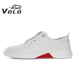 VOLO犀牛男鞋春夏季新款潮流板鞋男透气小白鞋真皮男士运动休闲鞋225200031D