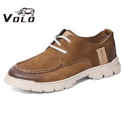 VOLO犀牛男鞋 2020夏季新款休闲男士时尚系带潮流低帮户外工装鞋155200561D