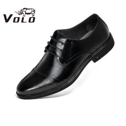 VOLO/犀牛2020春季新款正裝商務皮鞋系帶百搭德比鞋簡約系帶婚鞋138200092D