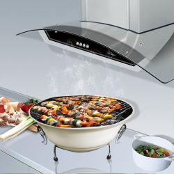 ShengTong 14寸 奶白色 苹果炉带锁扣 烧烤炉户外木炭烧烤架子家用烤肉炉子无烟焖烤炉便携式