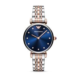Armani阿玛尼手表蓝色闪钻钢带表蓝色妖姬AR11092