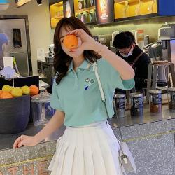 6209#清仓款 不退不换 翻领短袖t恤Polo衫女学生2019夏装