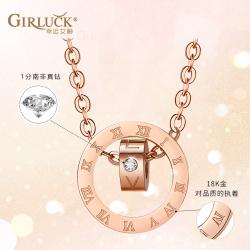 GK意大利幸运女神罗马数字项链锁骨链