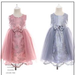 伊卡通 夏季新款时尚气质可爱女童中式网纱裙蛋糕裙公主裙 932055