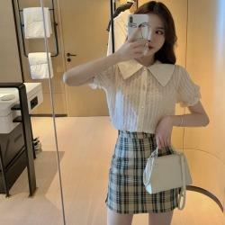韩潮法式小香风可盐可甜赫本风职业套装女轻熟短裙两件套Z211