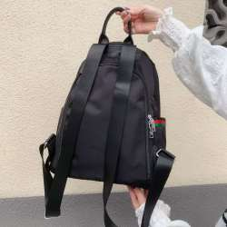 慕马2733红绿黑防盗背包布配头层牛皮百搭实用