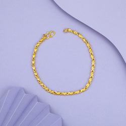 瑞芙蘭 仿真鍍金23K金色時尚手鏈約4gRS020