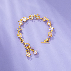 瑞芙蘭 送女朋友鍍金女士手鏈 情人節送女友 閨蜜生日禮物時尚款網紅個性RS026