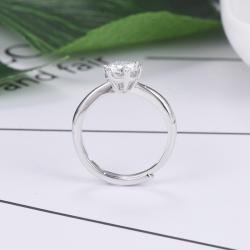 眾耀珠寶 S925銀經典六爪莫桑鉆戒指(心形爪)A0018J(18-2(6))