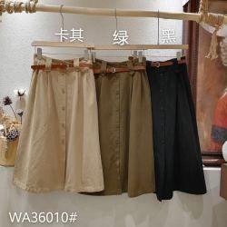 A8麻铺原创    棉麻宽松休闲舒适半身裙 WA36010