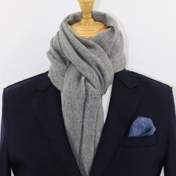 AujacSon奧杰遜 100%羊毛粗紡拉毛雙面圍巾秋冬厚款溫暖舒適百搭時尚有范氣質