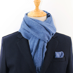 AujacSon奥杰逊 100%羊毛粗纺拉毛双面围巾秋冬厚款温暖舒适百搭时尚有范气质