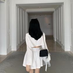 韩未2020新款西装连衣裙露背收腰超仙气质女神范可盐可甜漏腰西服裙子37121
