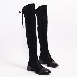 伊二三 冬季新款过膝长靴女瘦瘦时装靴高筒靴子2028-830A