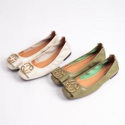 瑟莉亚 真皮女鞋韩版时尚软底浅口单鞋女软皮低跟圆头T0326-1