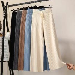 韬姗 2021春季新款加厚款时尚气质百搭宽松阔腿裤 8003