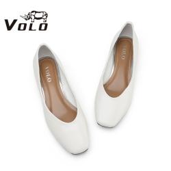Volo犀牛2020夏新款單鞋女時尚優雅平跟平底鞋902200021D