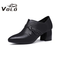 Volo犀牛2020秋新款正装单鞋时尚优雅气质中跟粗跟女鞋80395021D