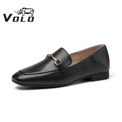 Volo犀牛乐福鞋2020新款单鞋女平底平跟工装鞋964200051D