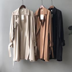 小言風衣女2020秋季新款韓版小個子中長款氣質寬松學生外套90002