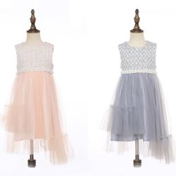 伊卡通 秋冬新款时尚气质可爱女童中式无袖网纱裙公主裙 023003