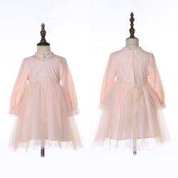 伊卡通 秋冬新款时尚气质可爱女童中式网纱裙蓬蓬裙公主裙 023015