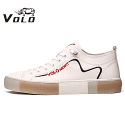 VOLO犀牛男鞋 2020新款潮流百搭男皮鞋男板鞋休閑皮鞋時尚休閑鞋 175200161D